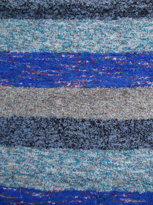 Jarapa alpujarreña tonos azules