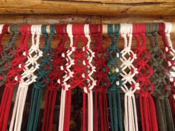 Cortinas de tiras de jarapa
