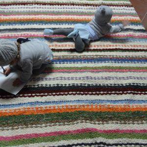 Jarapa, alfombra alpujareña de colorines,