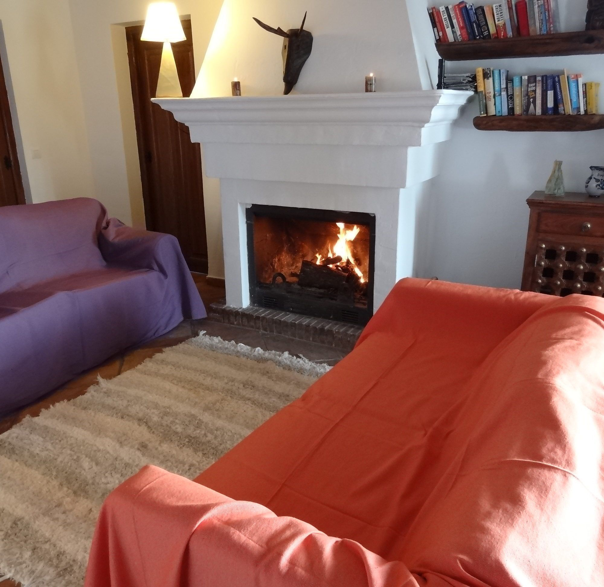 Cubre sof azul jarapa hilacar artesanos alpujarra bubi n - Jarapas para sofas ...