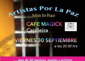 "(Español) Jarapa Hilacar colabora con ""Artistas por la Paz"""