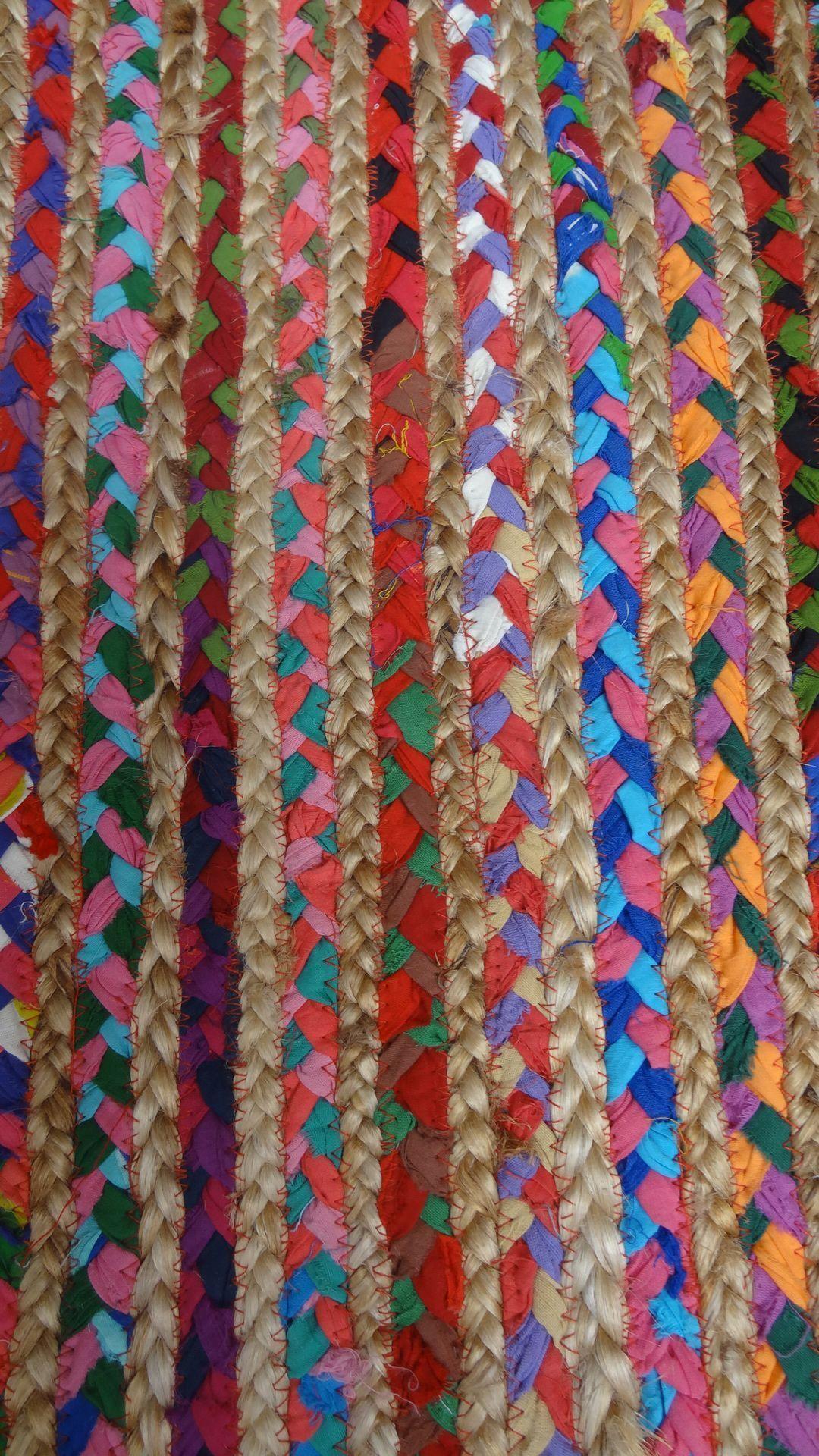 Alfombra yute tela 1 70 x 2 40 jarapa hilacar artesanos - Alfombras de yute ...