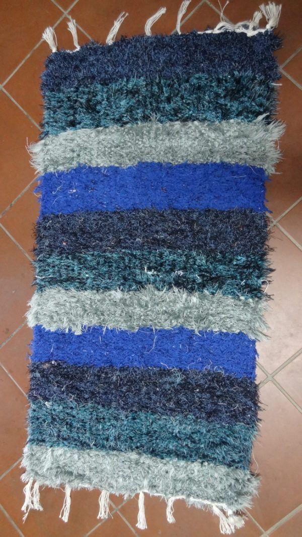 jarapa pie de cama azul