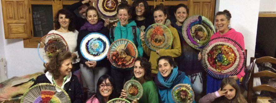 Arte textil y paisaje, curso de tapices redondos