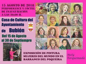 Exposicion de mujeres del Barranco de porqueira pintadas por Mely Torquemada